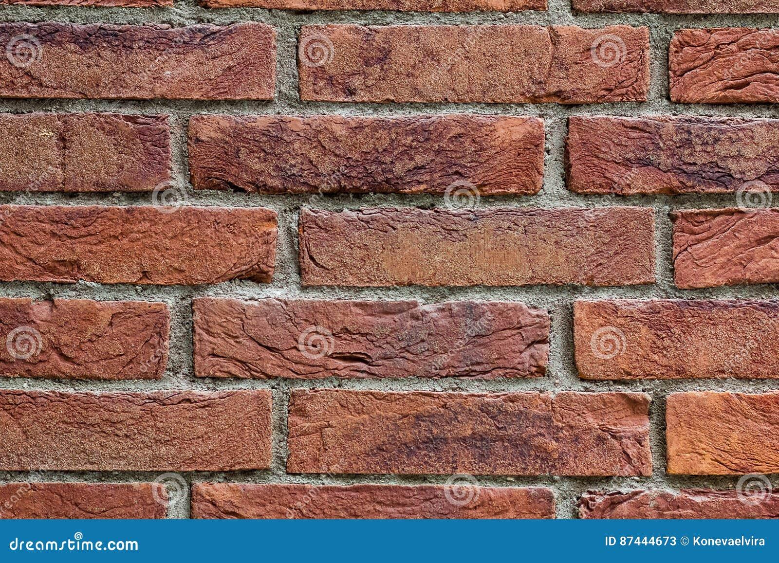 Close Up Of An Old Exterior Brick Wall Stock Image