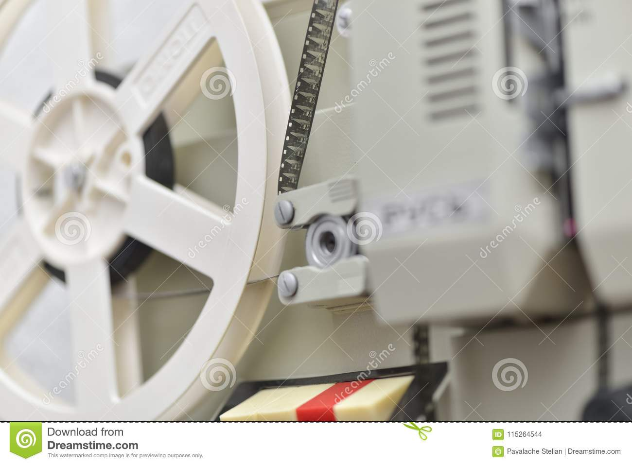 Close Up Of An Old 8mm Film Projector Stock Photo - Image of
