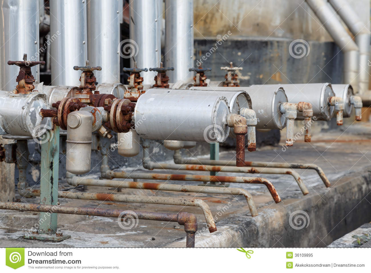 Royalty Free Stock Photo Close Up Old Steam Trap Valve Pipe Connection Industrial Plant Image36109895 on broken power lines