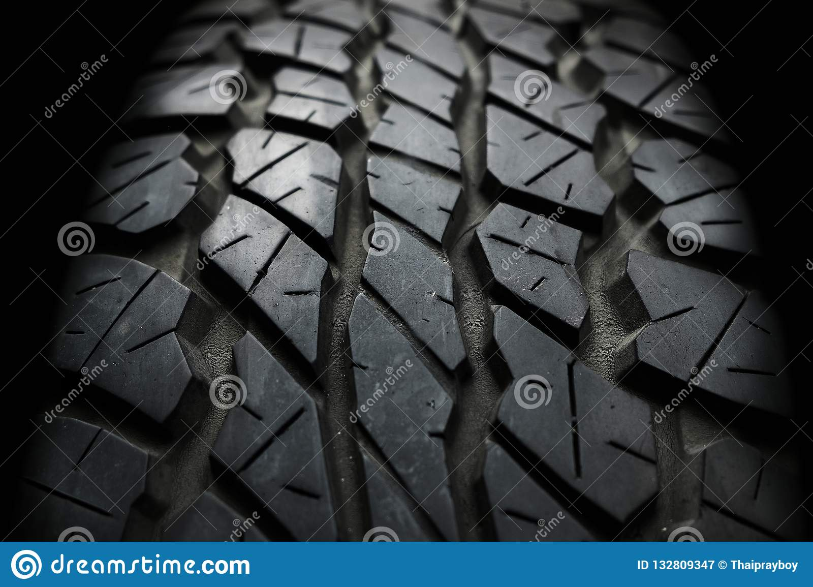 Close up Old and Used Vehicle Tyre Texture Background