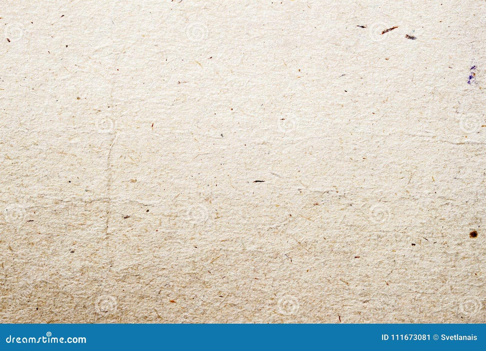 Close-up orgânico do fundo do cartão da textura de papel Superfície ecológica do papel do vintage do Grunge com celulose, fragmen