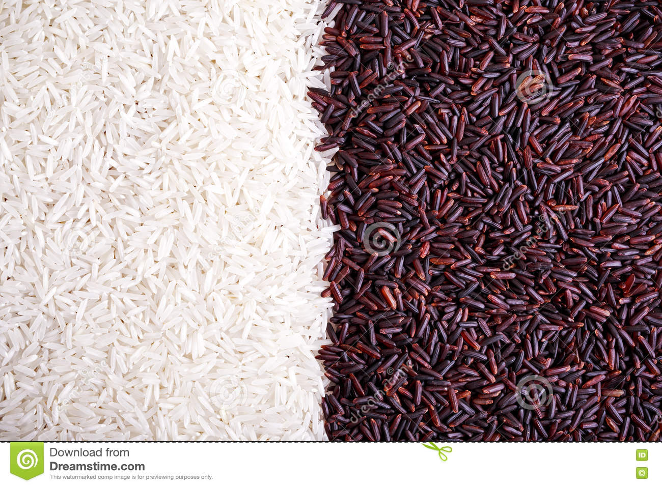 Organic Nutrition Black Rice On White Royalty-Free Stock ...