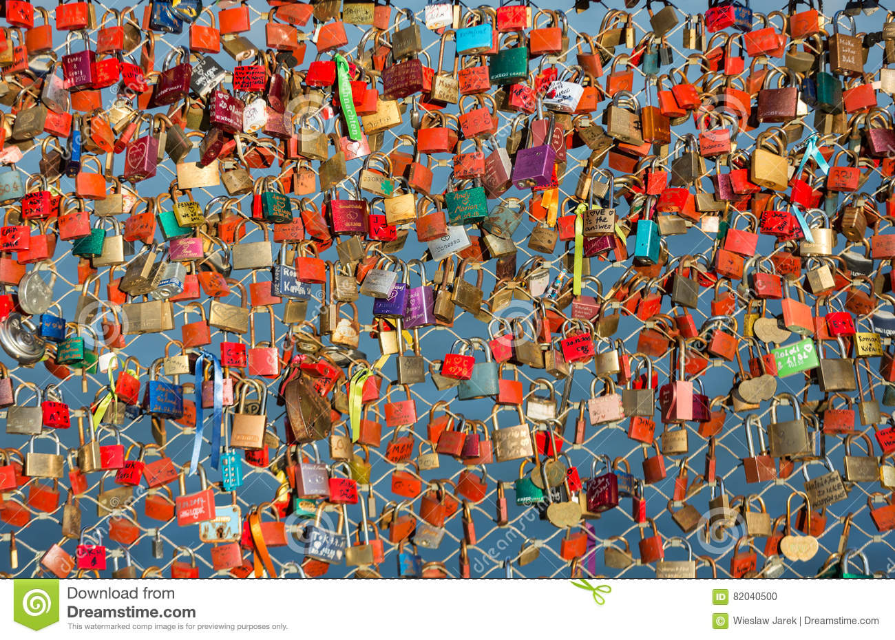 Close up of padlocks as a symbol of everlasting love at a bridge close up of padlocks as a symbol of everlasting love at a bridge in salzburg austria over the river salzach biocorpaavc