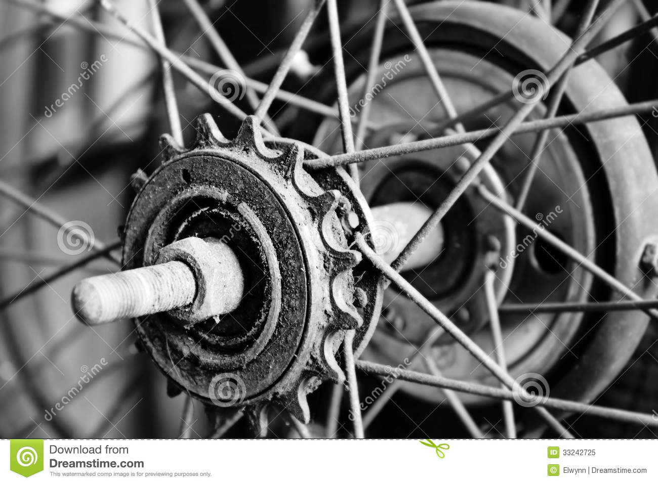 Close Up Part Of Old Bicycle Stock Image - Image: 33242725
