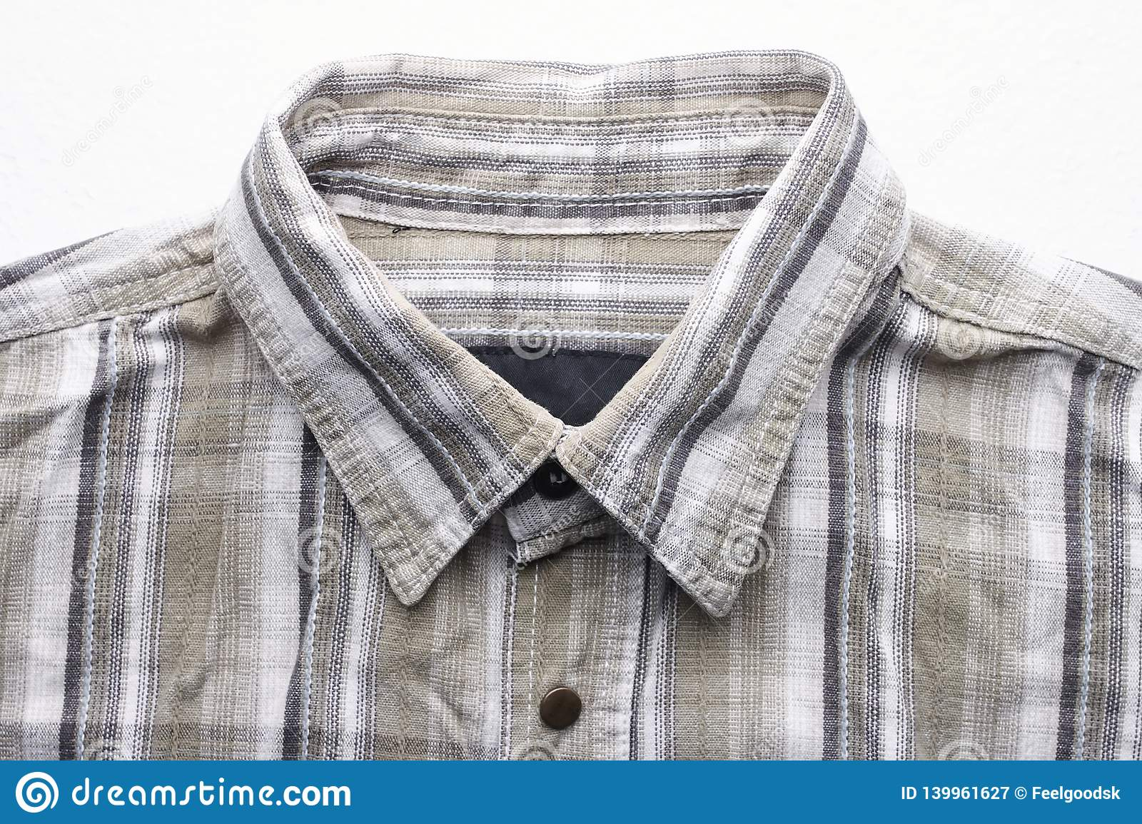Close Up Part Of A Shirt From Hemp Fabric Casual Man S Shirt With Pattern Wrinkled Texture From Hemp And Cotton Background Stock Image Image Of Mens Clothes 139961627