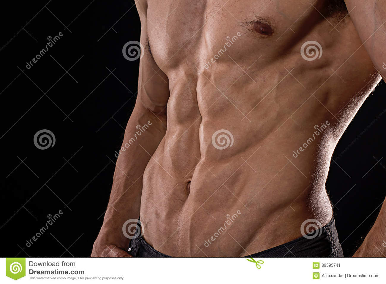 Six pack stock photo. Image of space, bodybuilder