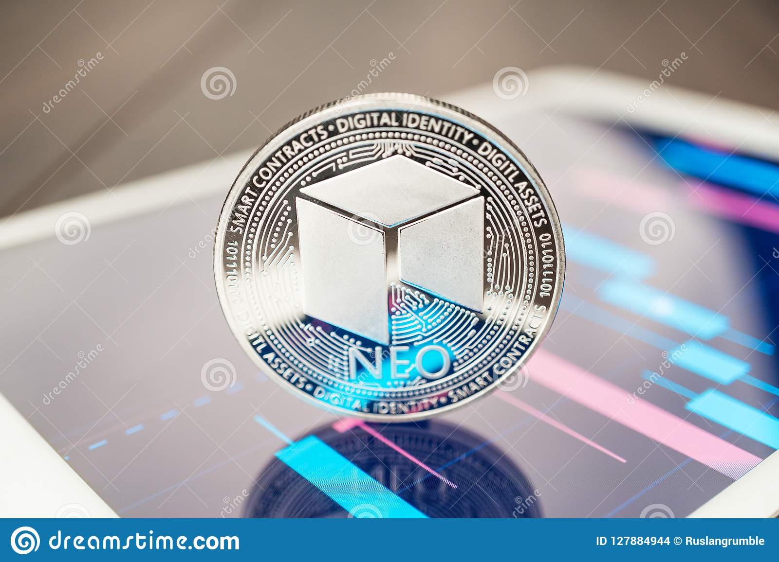 Close-up Photo Of Neo Cryptocurrency Physical Coin On The ...