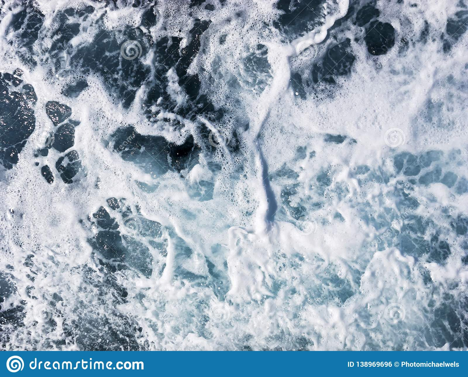 Close-up photo of seawater in the ocean