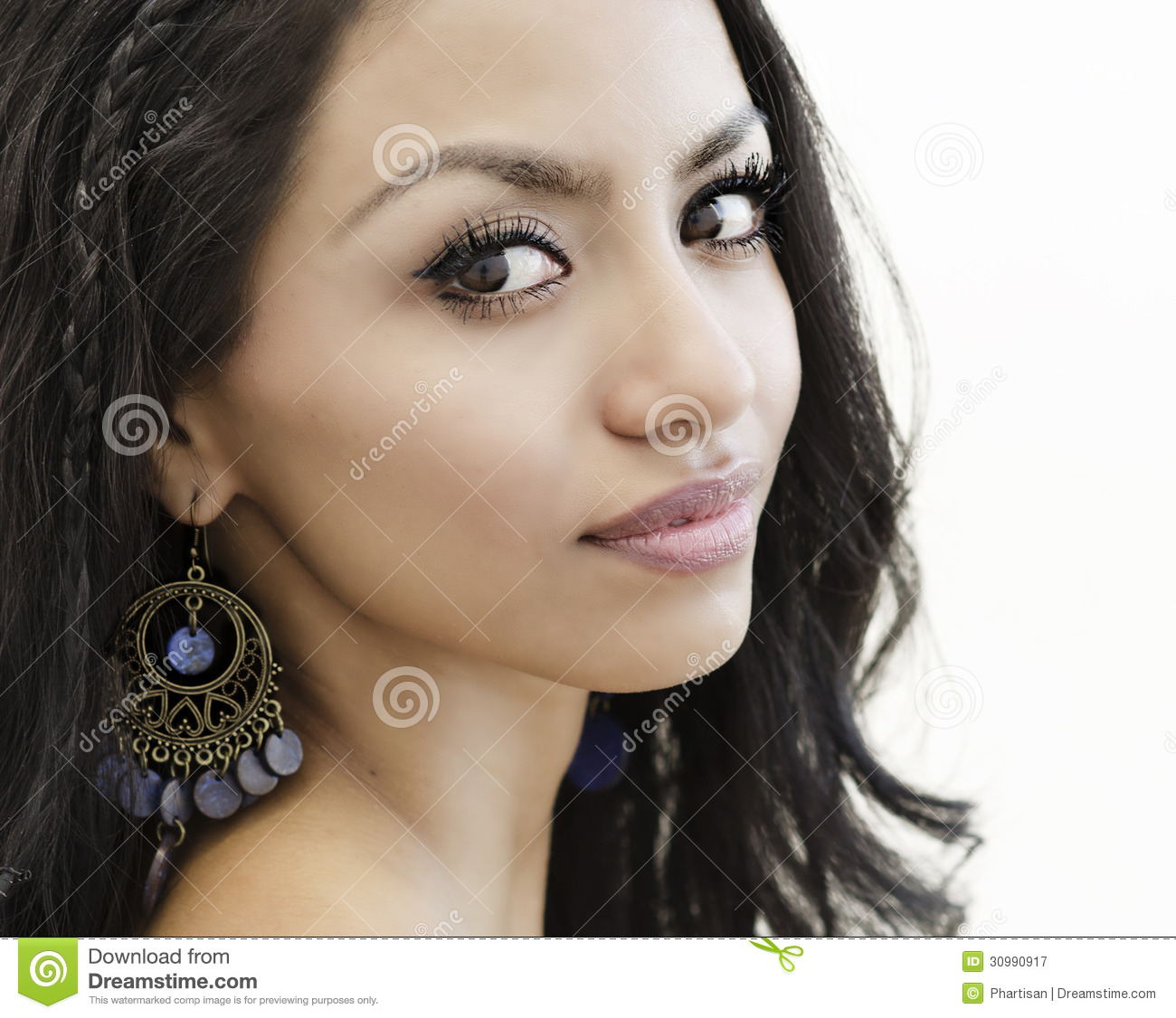Close Up Photo Of Young Womans Face Stock Image Image Of Ethnic