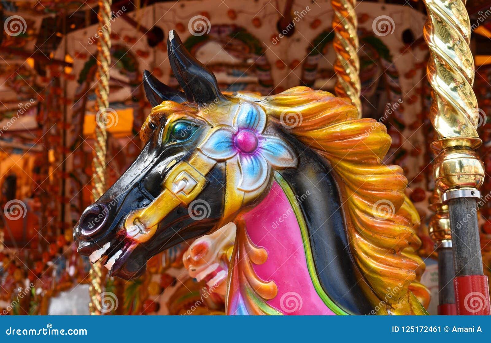 Carousel Horse Stock Image Image Of Authentic Enjoyment 125172461