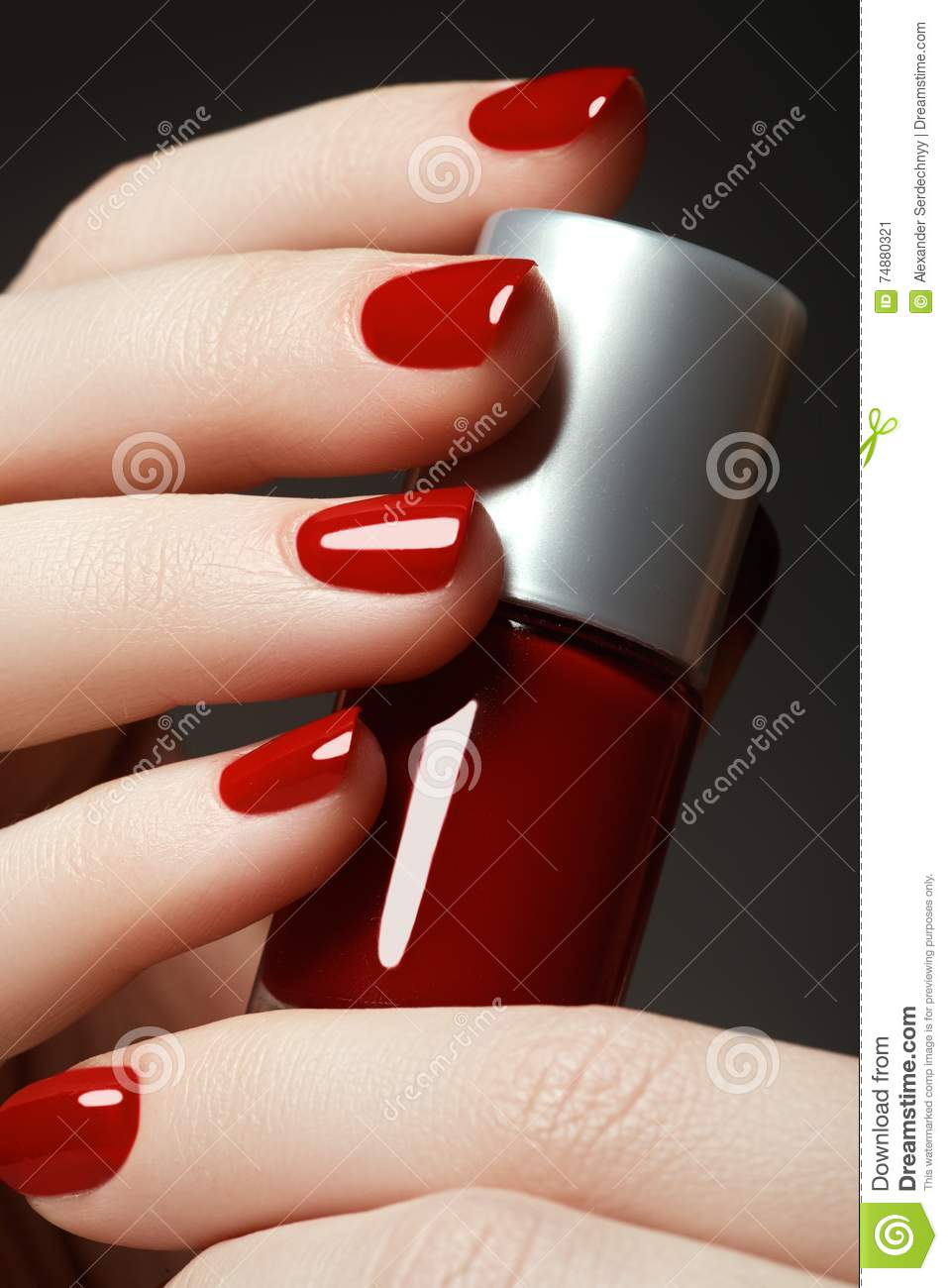 Close-up picture of beautiful nails. A good idea for the adverti