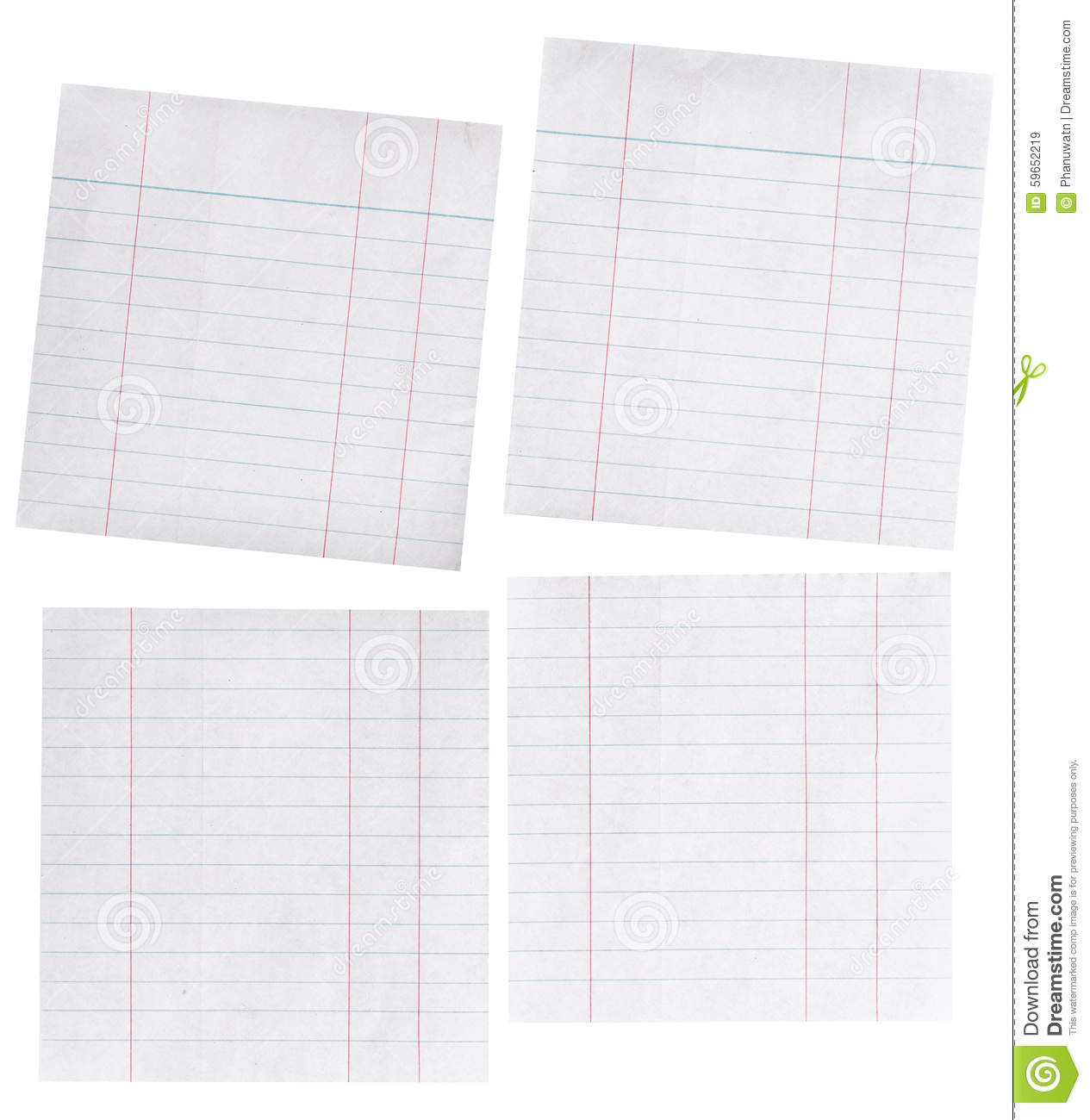 Piece of lined paper