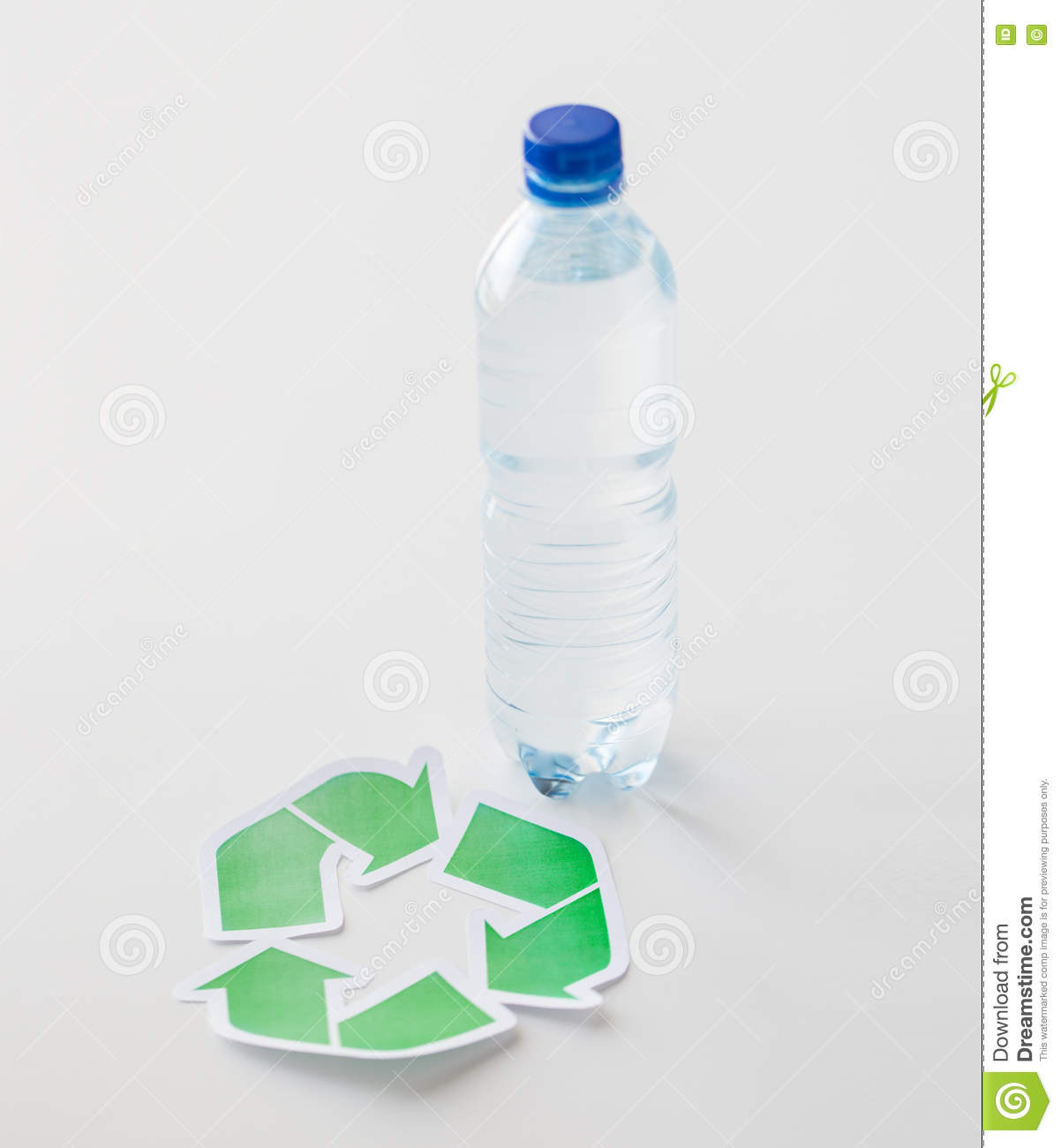 Plastic Bottle Recycling Close Up Of Plastic Bottle And Recycling Symbol Stock Photo