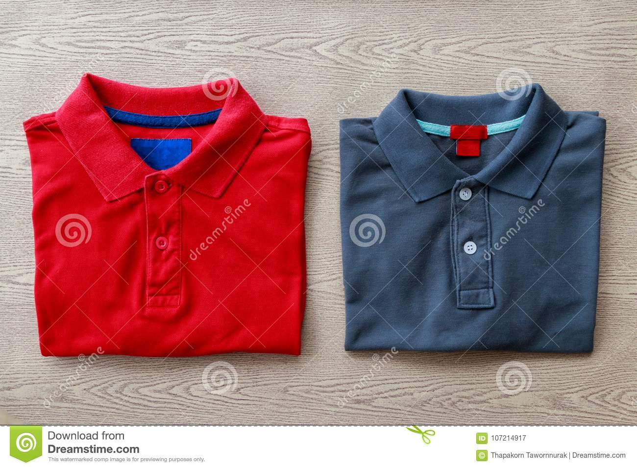 Close Up Polo Shirts Stock Image Image Of Male Cotton 107214917