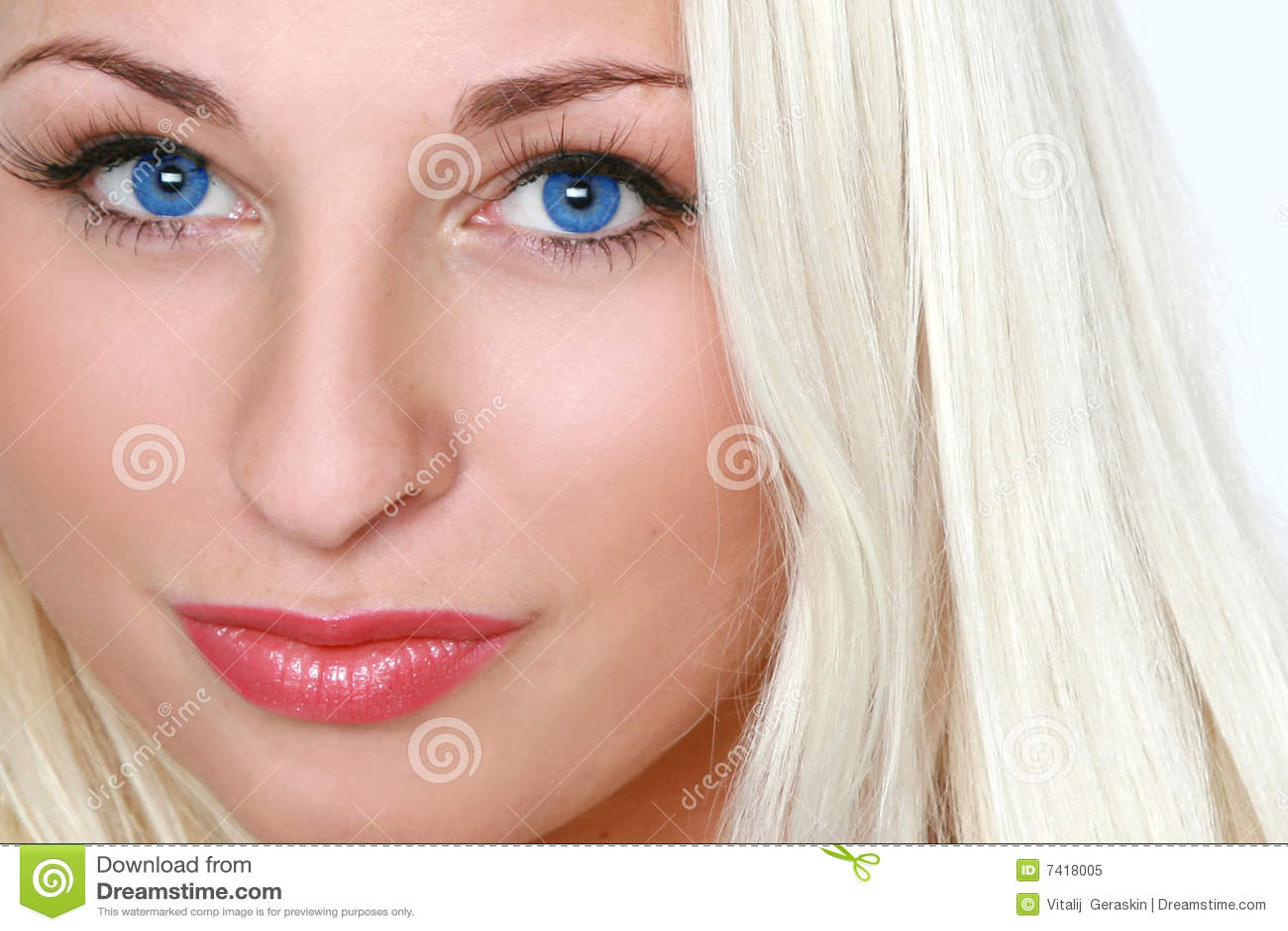 image Beautiful blonde blue eyes and huge boobs