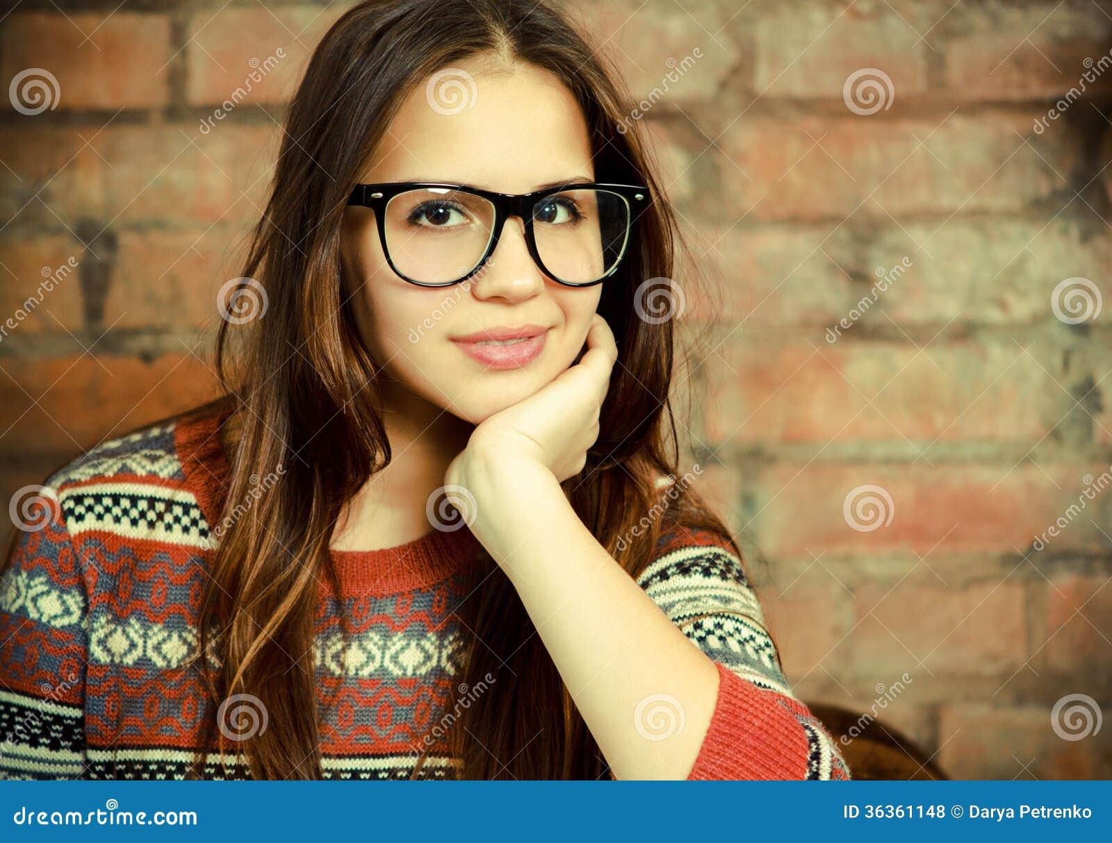 Cute Teens Wearing Glasses - Teen-5660
