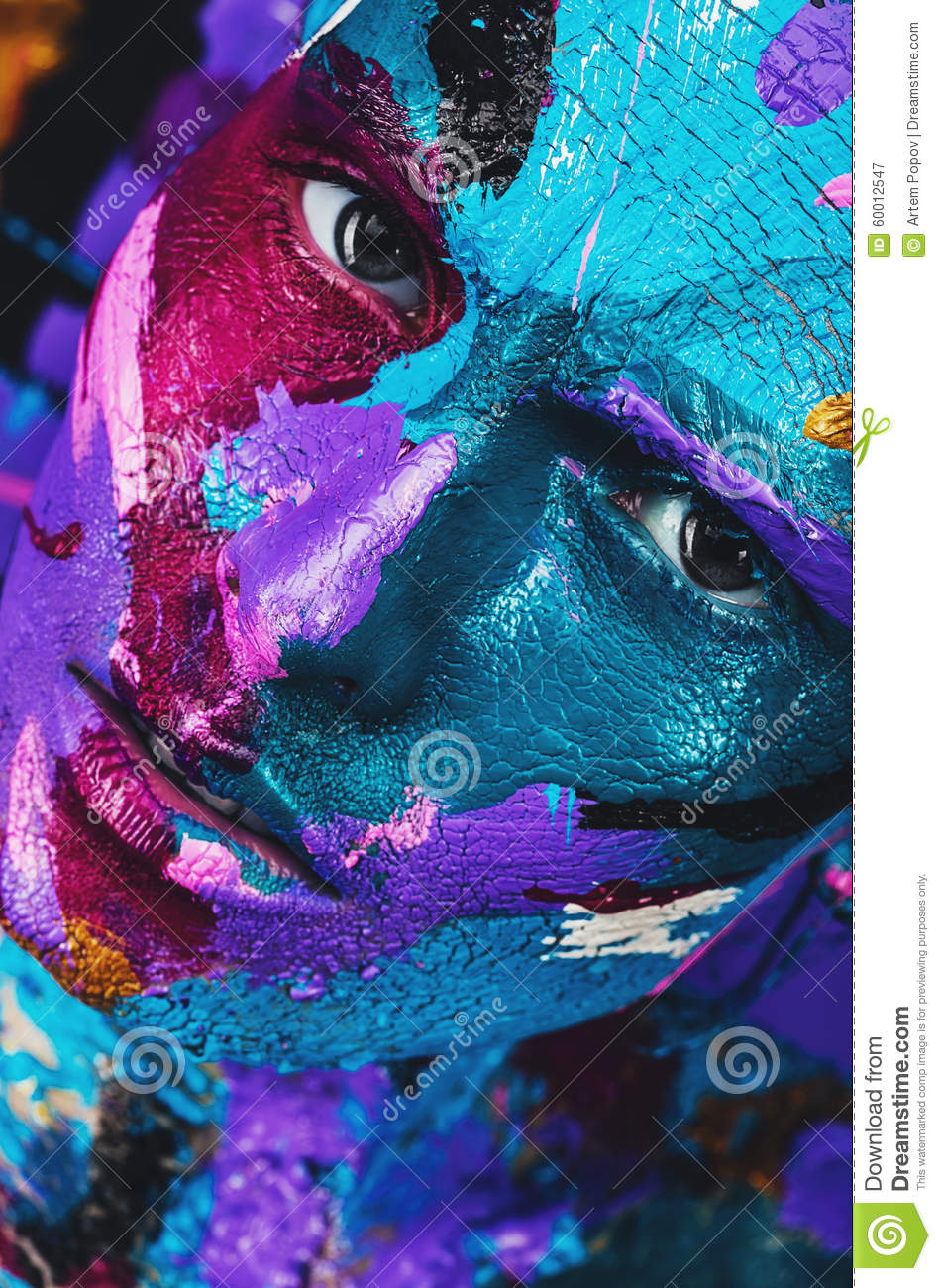 Abstract Art Bodies Close Up Portrait Of B...