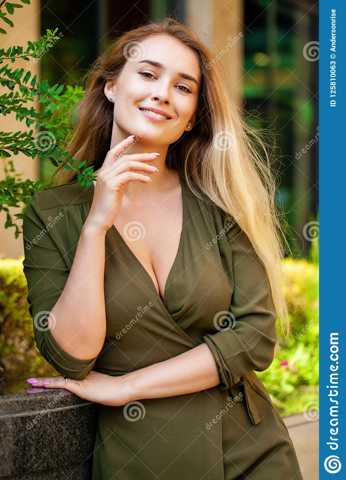 Portrait of beautiful young happy woman