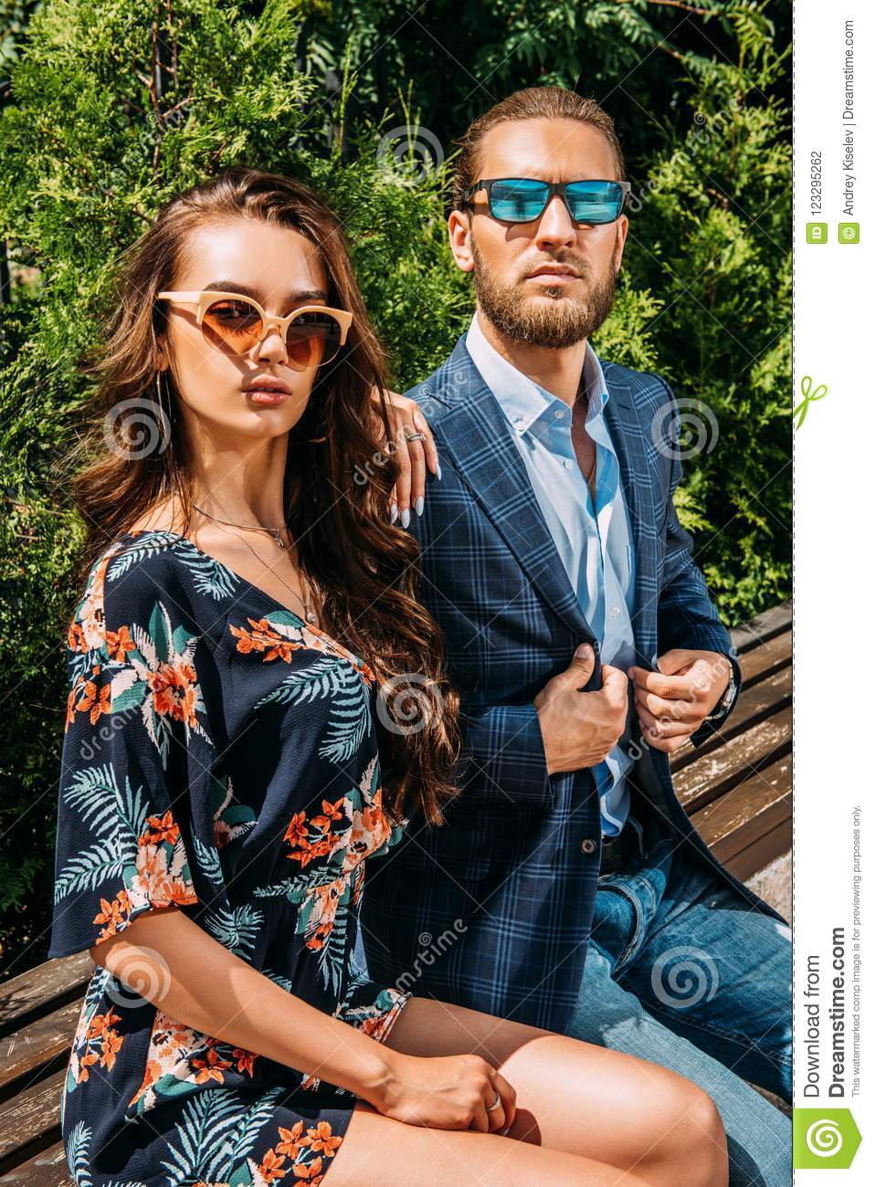 Fashionable young people