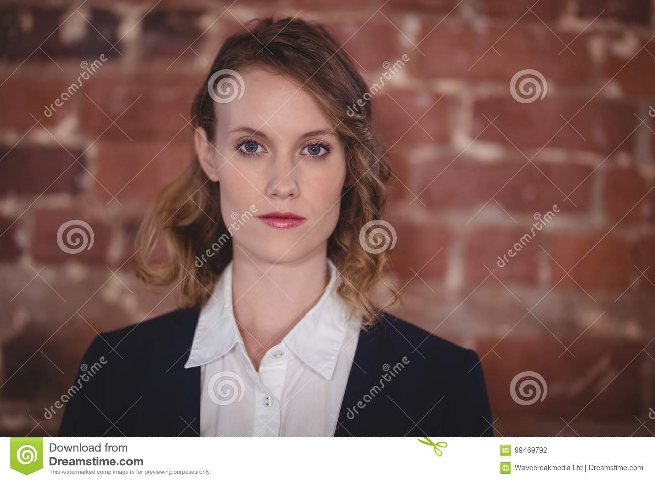 Close up portrait of confident young beautiful female editor at coffee shop