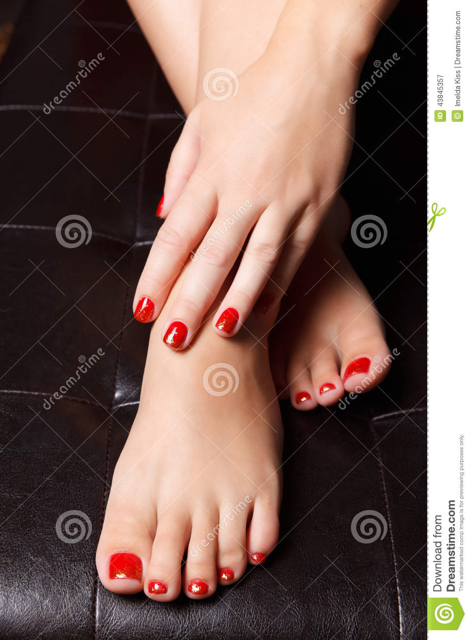 Close-up Portrait Of Painted Nails Stock Image - Image of nail ...