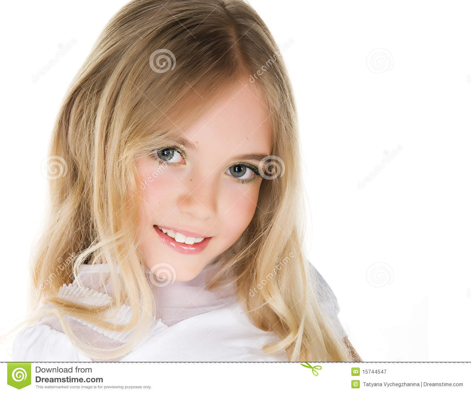close up portrait of a pretty little girl stock image. Black Bedroom Furniture Sets. Home Design Ideas