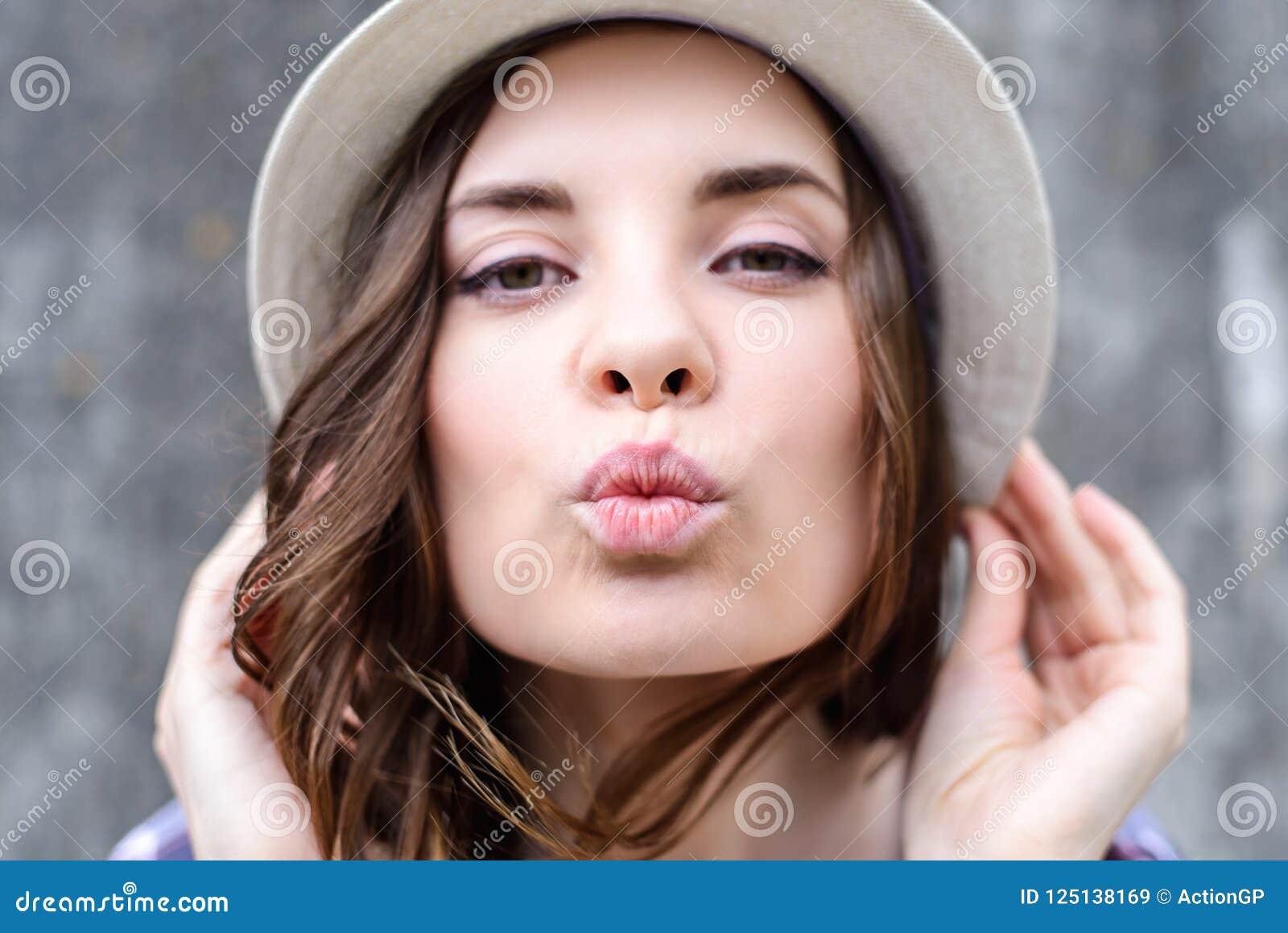 Close up portrait of beautiful cute pretty attractive gorge