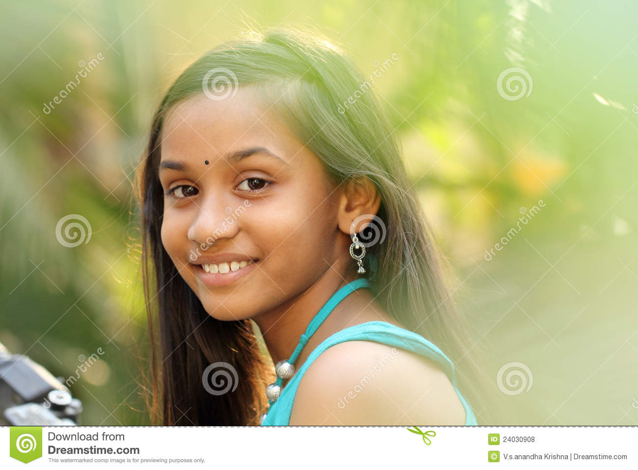 Close Up Portrait Of Smiling Indian Teen Girl Royalty Free -9853