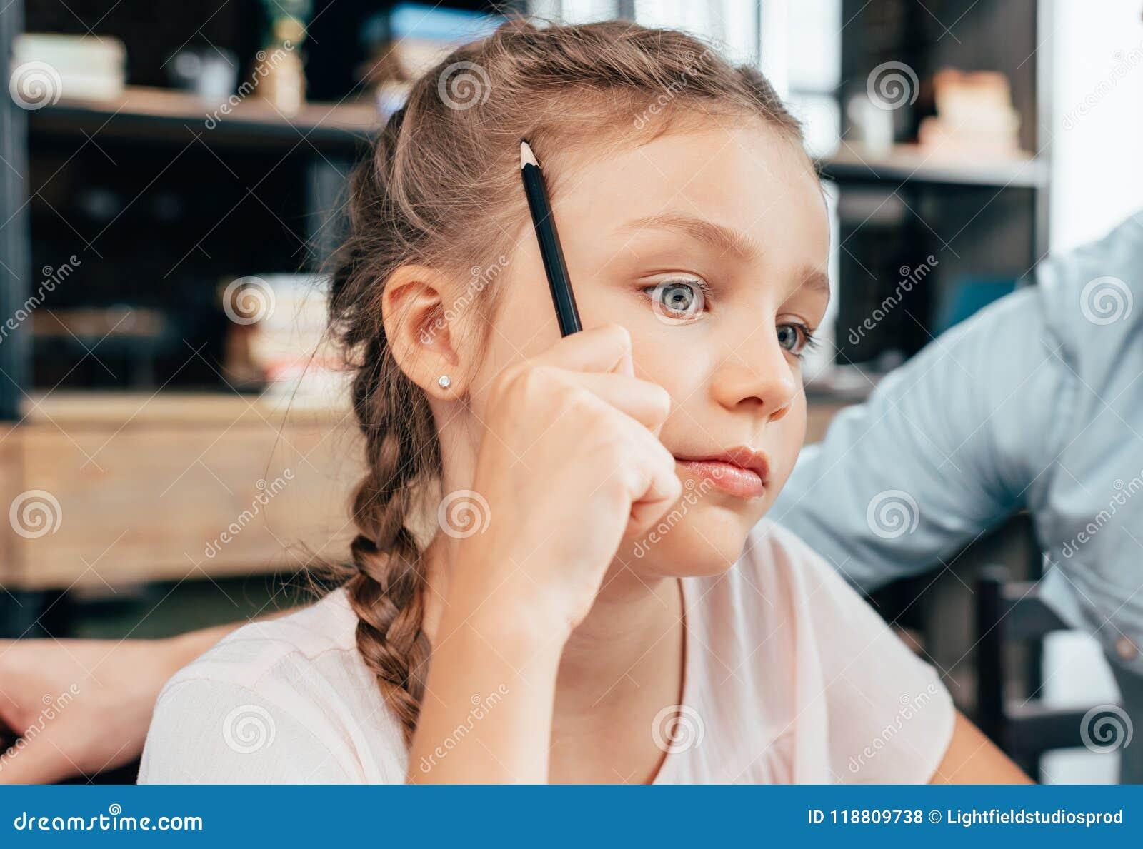 Me doing homework little girl crying