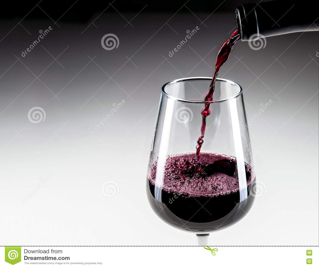 Close-up Pouring Red Wine Into Glass