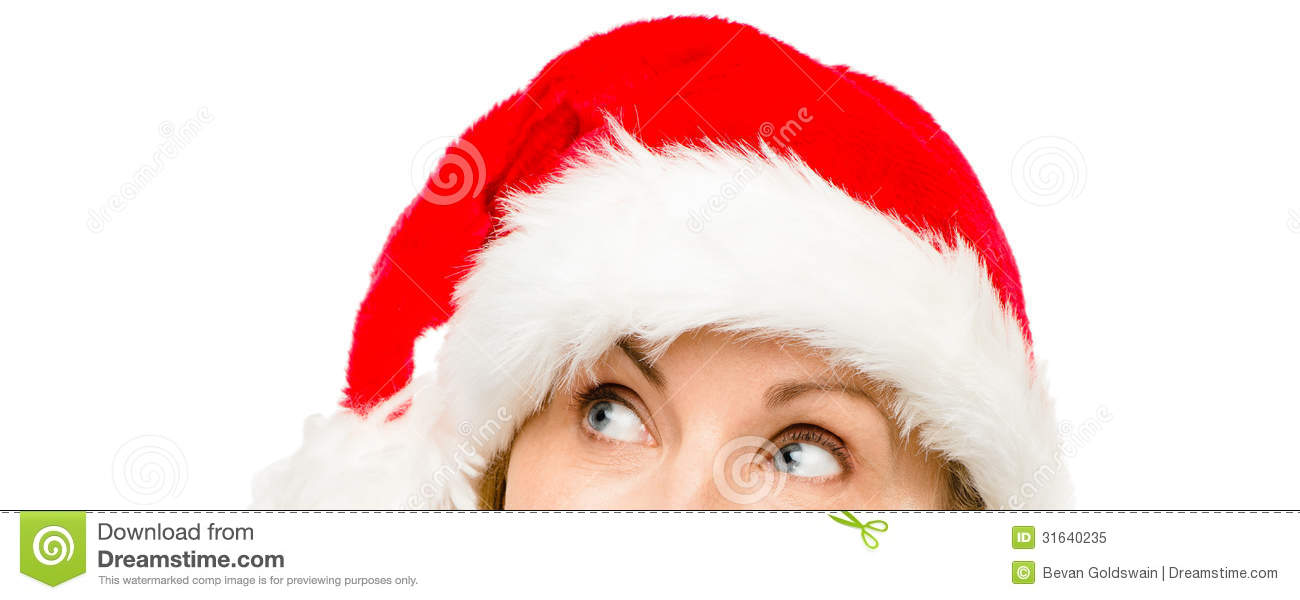 Photo close up of pretty mature woman wearing santa hat for christmas
