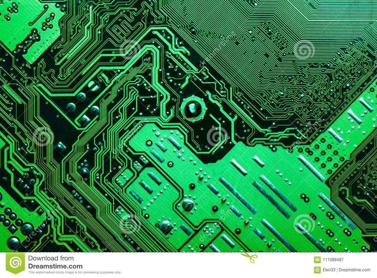 Circuit Board Stock Image Of Connection Integrated 111088487 Closeup Electronic Royalty Free Photography Photo