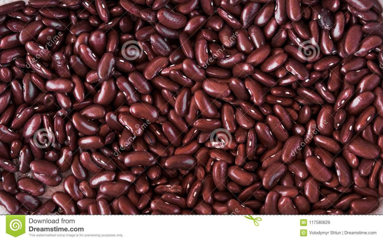 Close up red beans background and as a texture. Healthy vegetarian dietary food rich in microelements. Healthy lifestyle