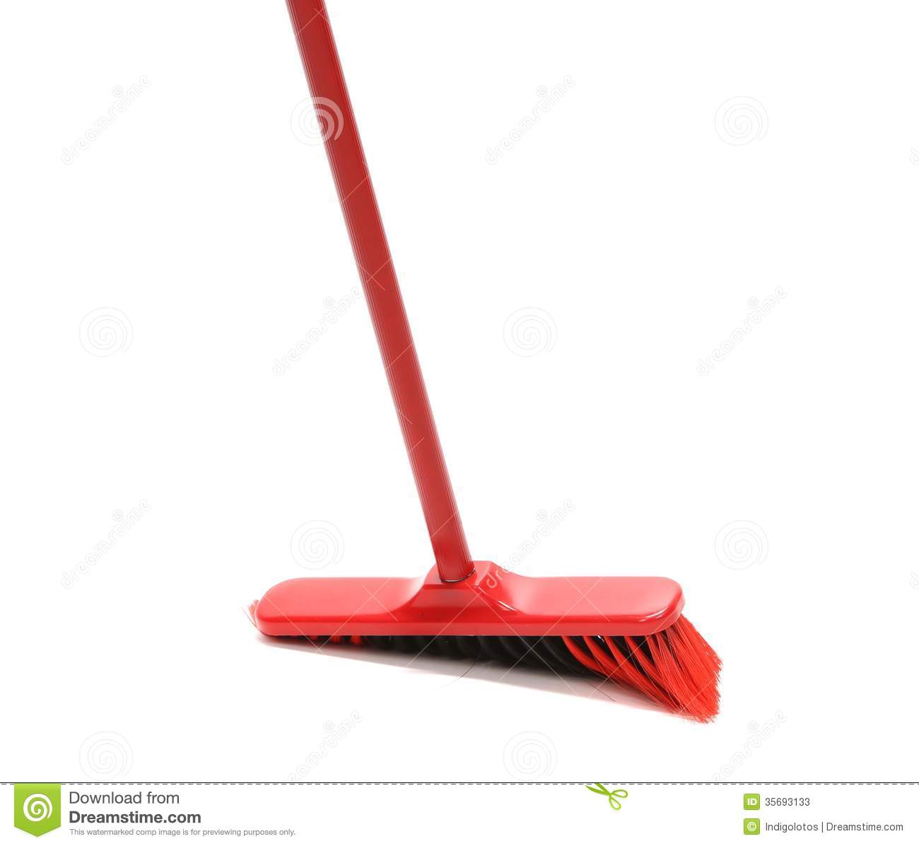 Close Up Of Red Black Broom Stock Image Image 35693133
