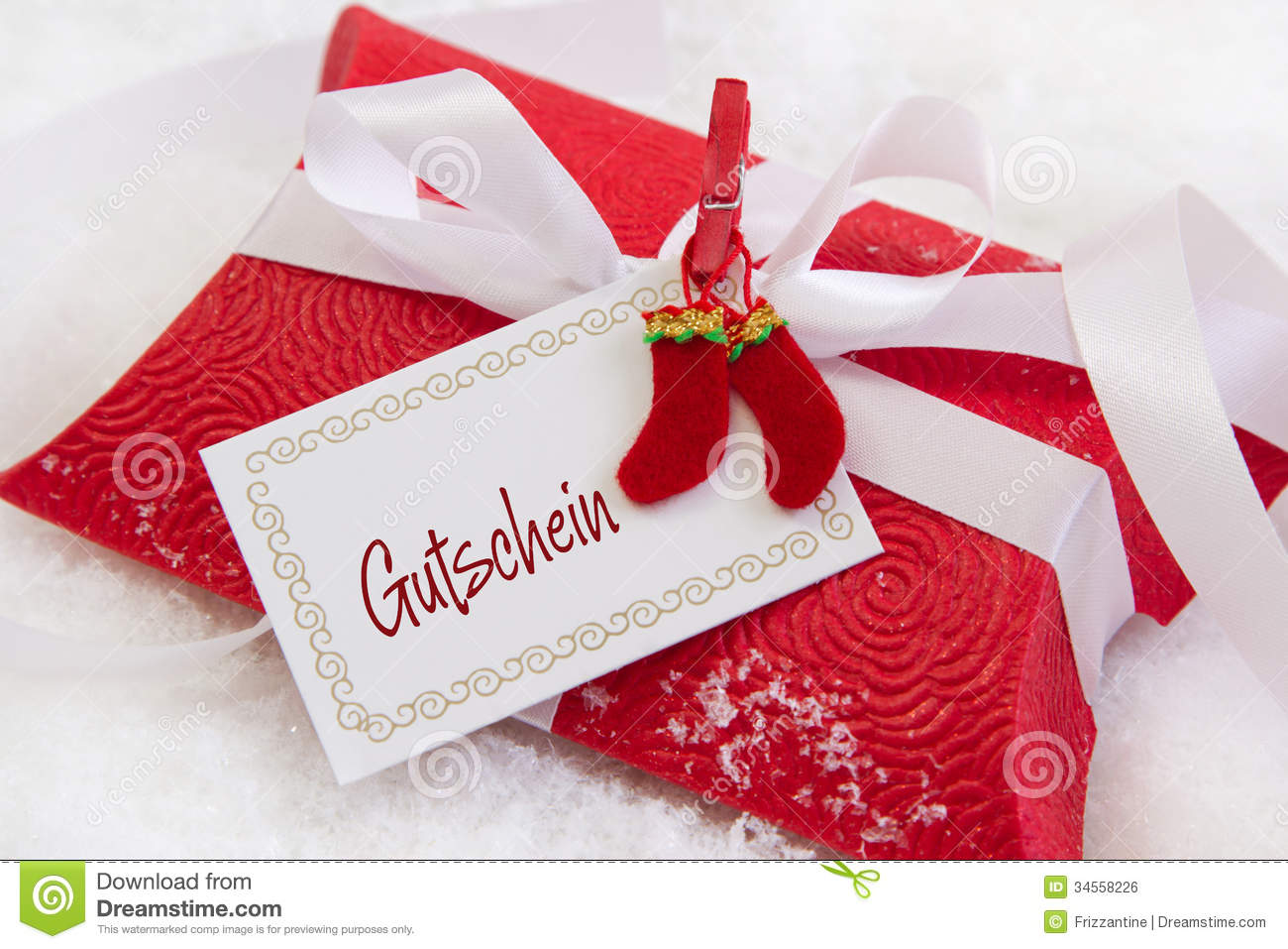 Royalty free stock image close up of red christmas present box with