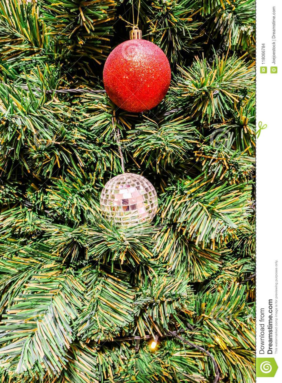 closeup of red and crystal christmas tree decorations - Crystal Christmas Decorations