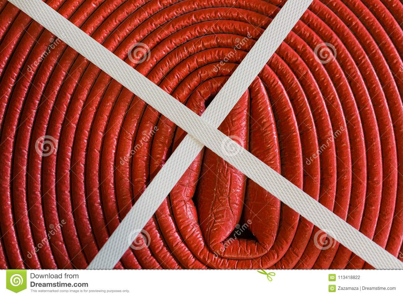 Close Up Red Plastic Pipe Is As Part Cable Coil And Used For Electric Wire Protection Buy Wiring Conduit Protective