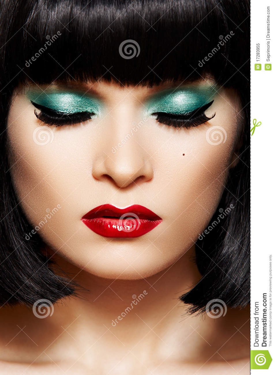 Close Up Retro Glamour Face Disco Glitter Make Up Royalty