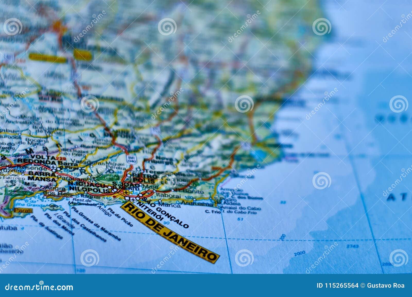 Map of the city of rio de janeiro stock photo image of close download map of the city of rio de janeiro stock photo image of close gumiabroncs Images