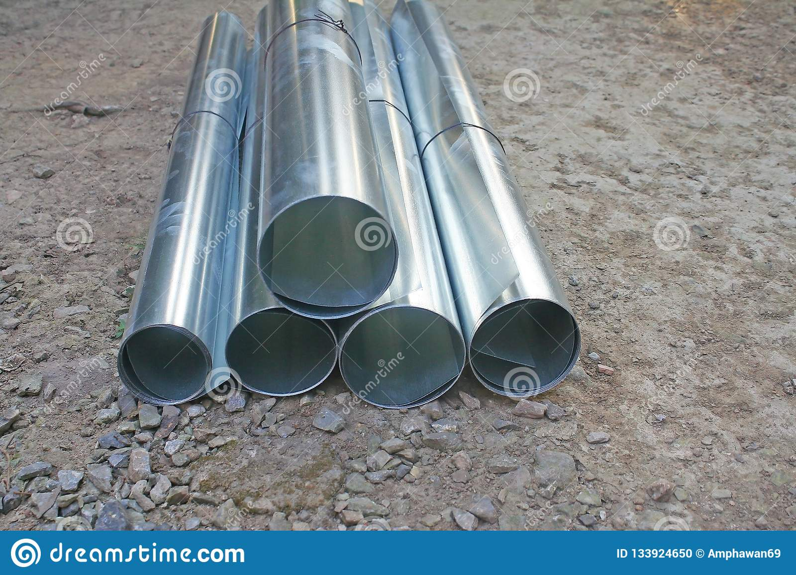 Pipes And Tubes Ferrous Scrap Iron In A Container Stock