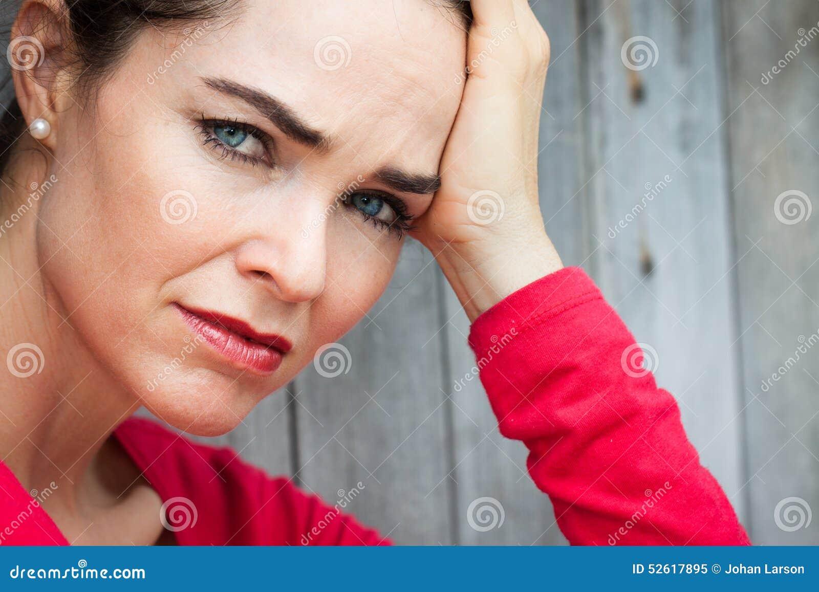 Close-up of sad and depressed woman