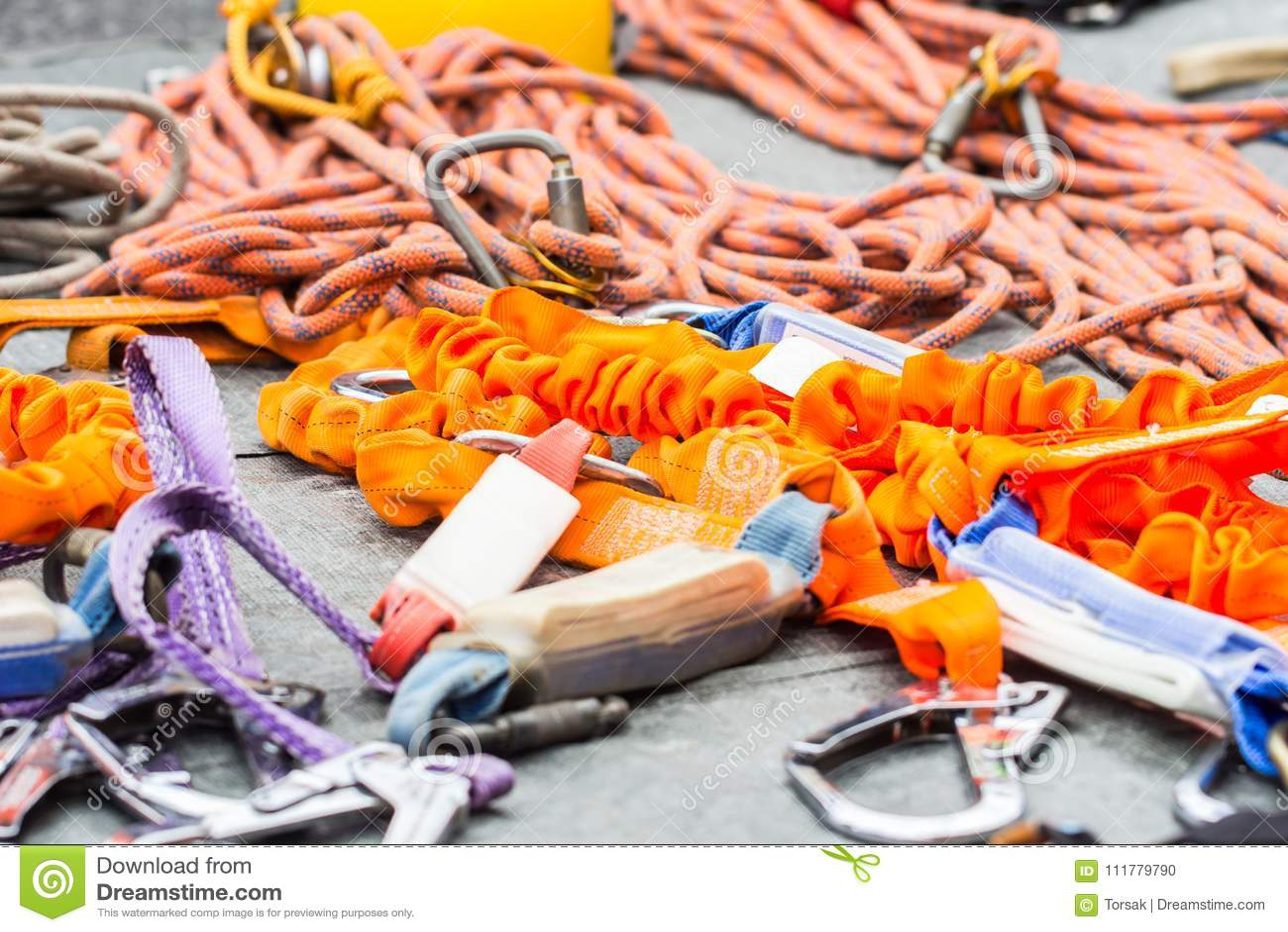 Safety equipment on floor