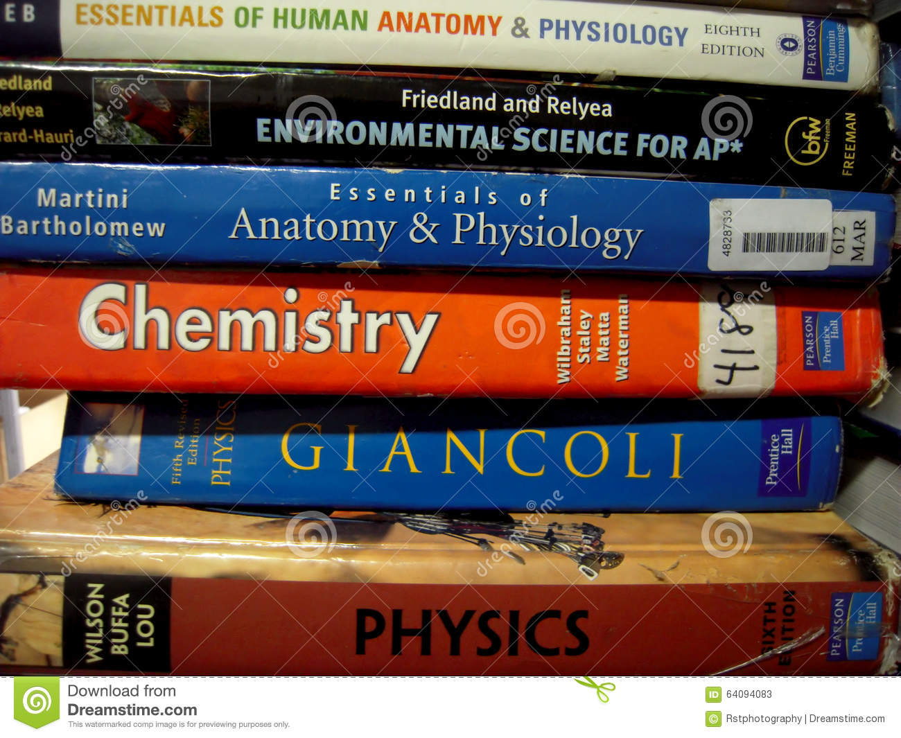 Close Up Of Science School Books Editorial Stock Photo - Image of ...
