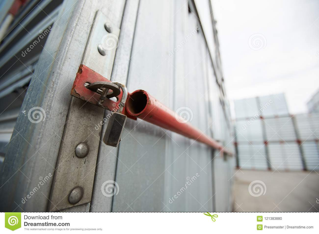 Sealed Cargo Container Stock Photo Image Of Merchandise 121383880