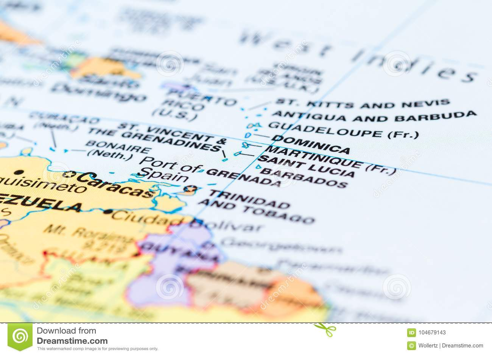Islands in the Caribean