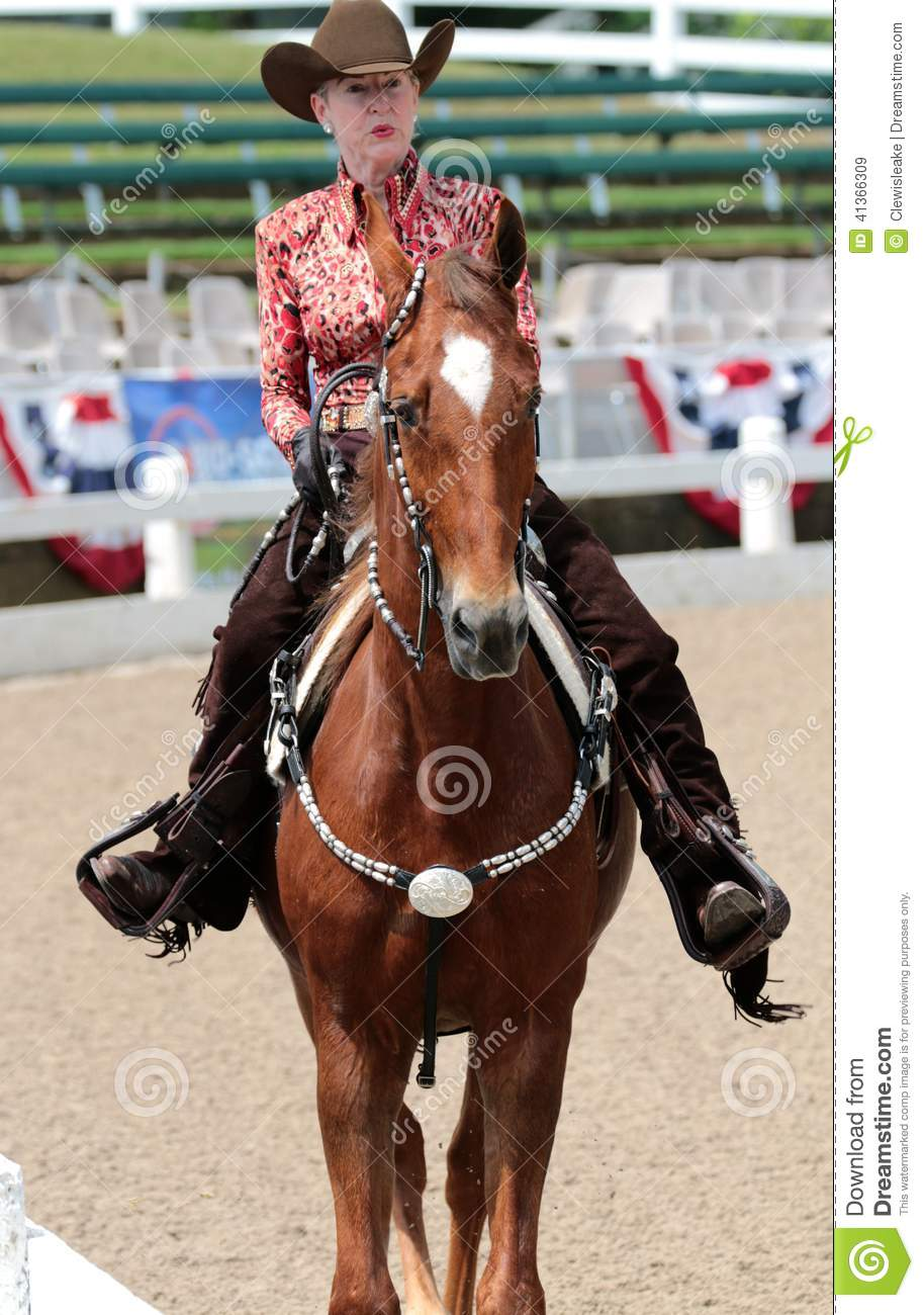 Close-Up of A Senior Citizen On A Horse At The Germantown Charity Horse Show