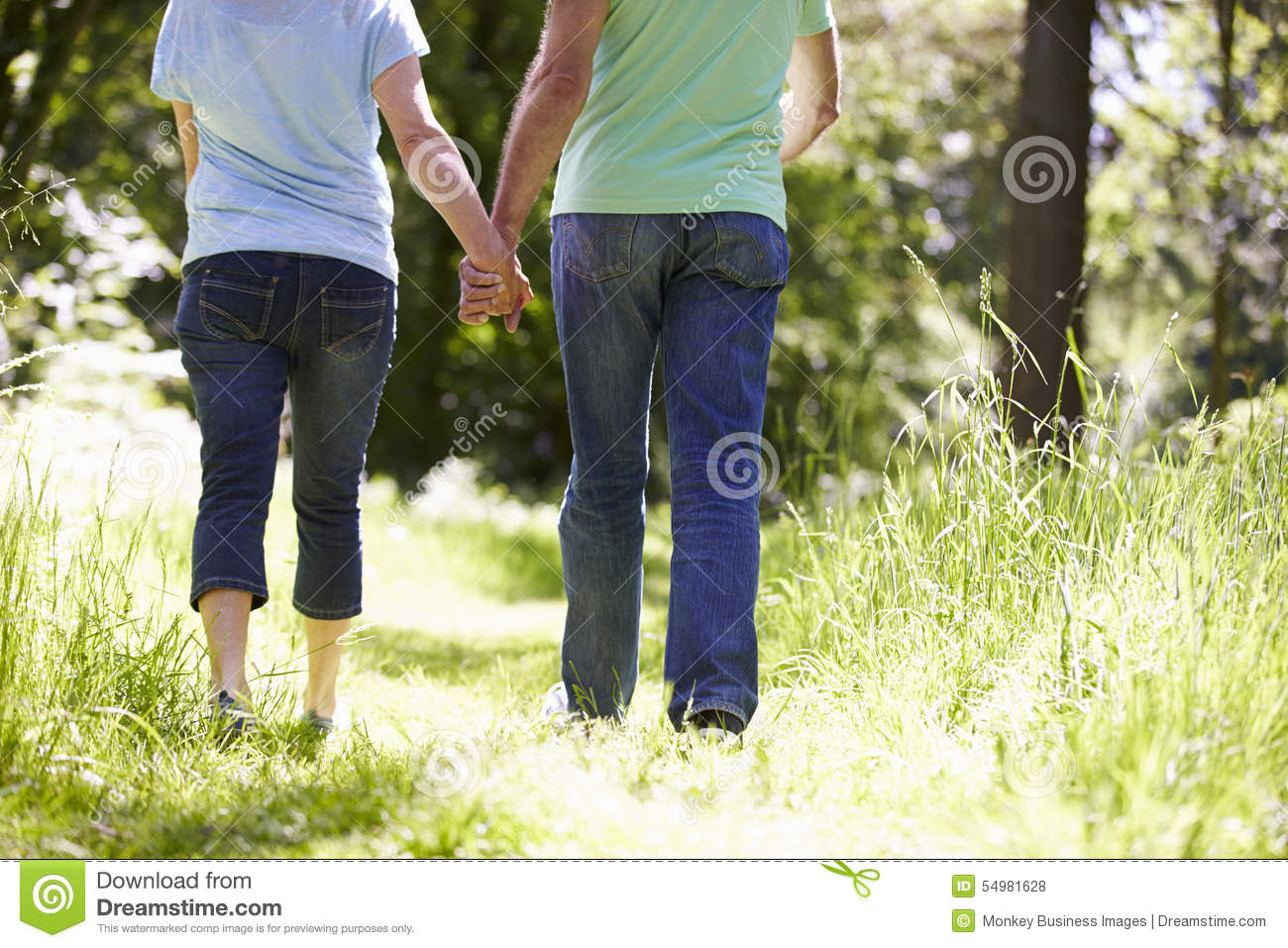 Close Up Of Middle Aged Couple Outdoors Royalty Free Stock