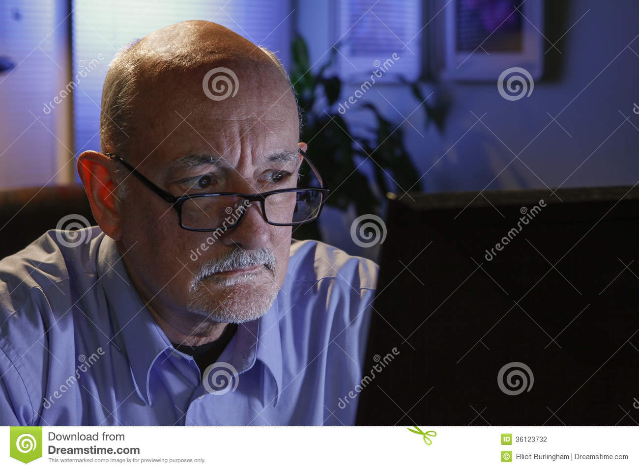 young bald man looks up stock image male models picture