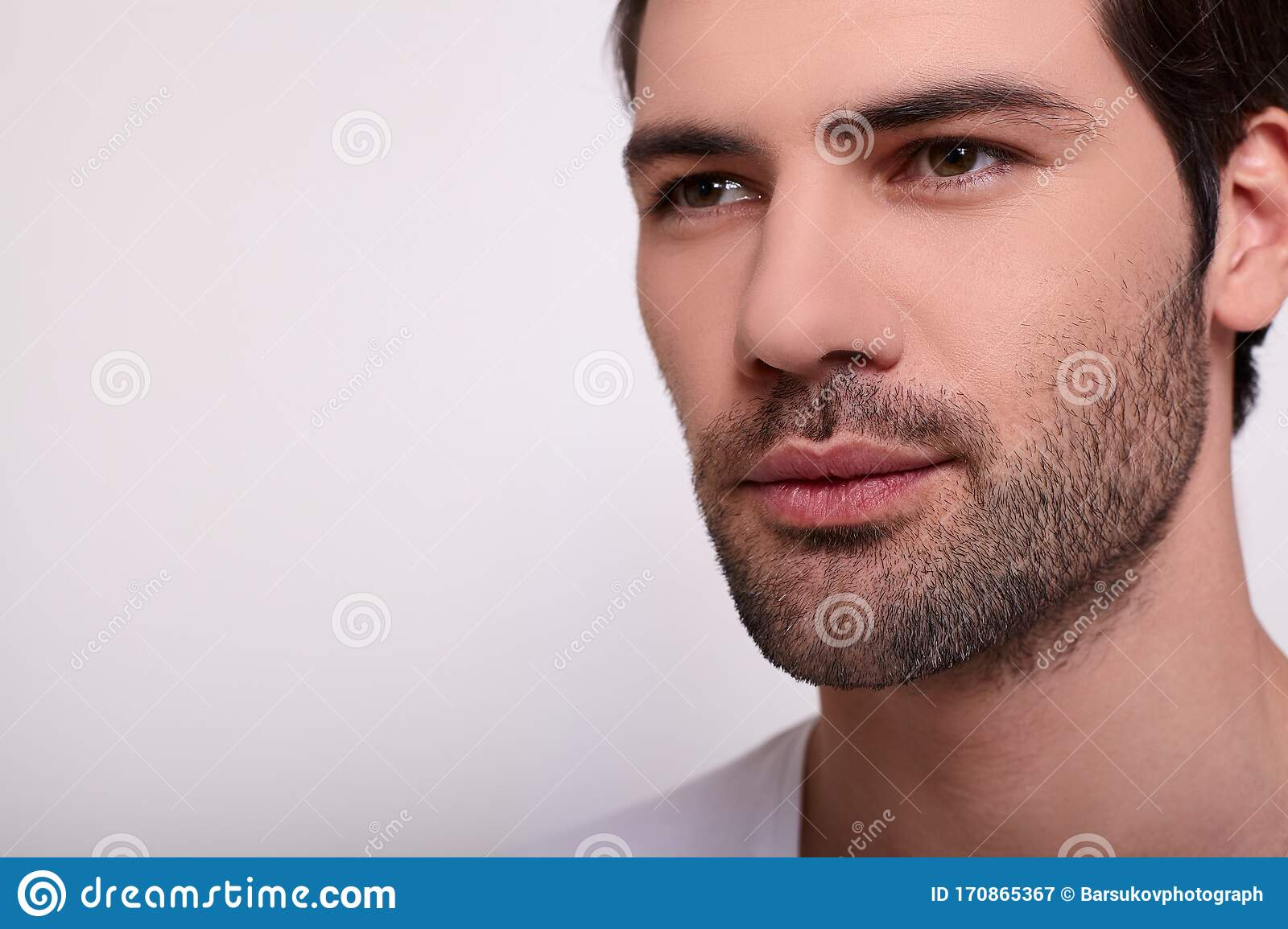 Close Up Young Male Face Of A White Guy Stock Image Image Of