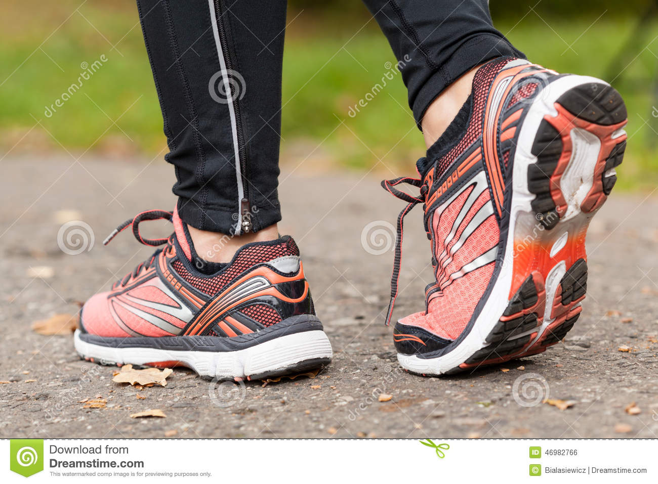 Close Up Of Shoes Stock Photo Image Of Running Cold